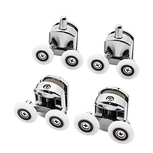 COEUGE Duschtür Rollen, Doppelrad-Schiebeduschtürrollenlagerrolle (Size : 2 up+2 down 23mm)