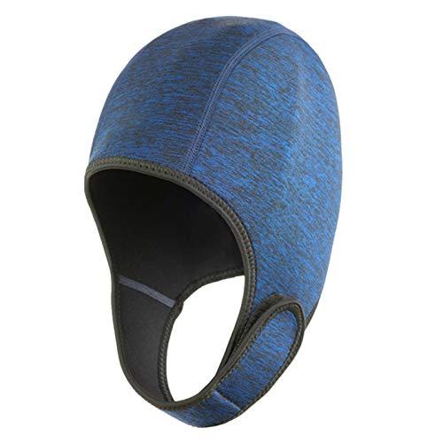 POHOVE Gorro de natación térmico con correa ajustable para la barbilla, gorro de natación para invierno, natación, kayak, surf, buceo, rafting, buceo