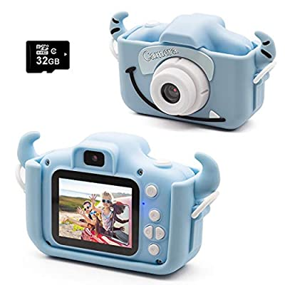 "Kids Digital Camera Child Camcorder, Girls Birthday Toy Gifts for 4-13-Year-Old Children, Update Dual Cameras 20.0MP Toddler Video Recorder 1080P IPS 2"" Screen with 32G TF Card by kuiensi"