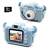 Kids Digital Camera, Girls Birthday Toy Gifts for 4-13-Year-Old Children, Dual Lens 20.0MP...