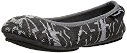 Women's Sport Knit Foldable Travel Ballerina Slipper by Isotone