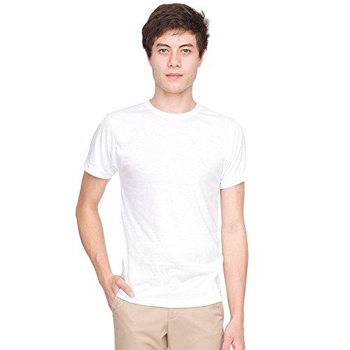 American Apparel - T-Shirt à Manches Courtes - Homme (2XL) (Blanc)