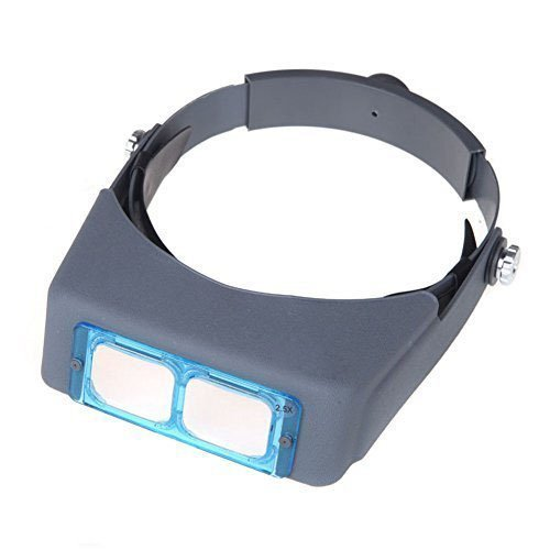 GXG-1987 1.5X 2X 2.5X 3.5X Double Lens Head-Mounted Headband Reading Magnifier Loupe Head Wearing 4 Magnifications