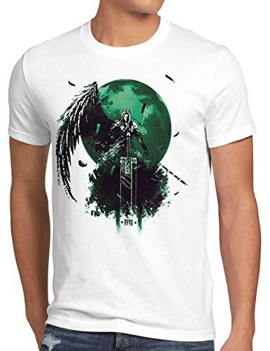 style3 Sephiroth VII Herren T-Shirt Fantasy Avalanche Rollenspiel ps ios Japan, Größe:M