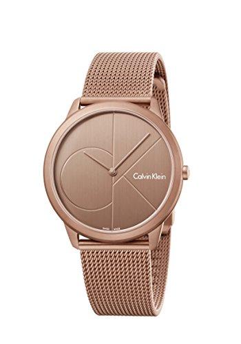 Calvin Klein Damen Analog Quarz Uhr mit Paqué or Armband K3M11TFK