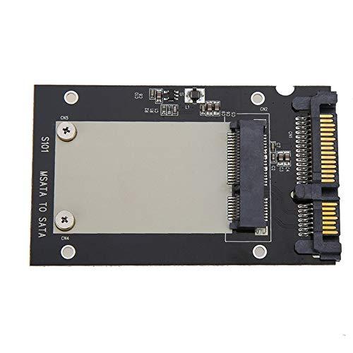 CNmuca S101 Caixa de transferência de unidade de estado sólido mSATA para SATA III caixa de disco rígido de alumínio SSD de 2,5 polegadas Placa adaptadora SSD preta