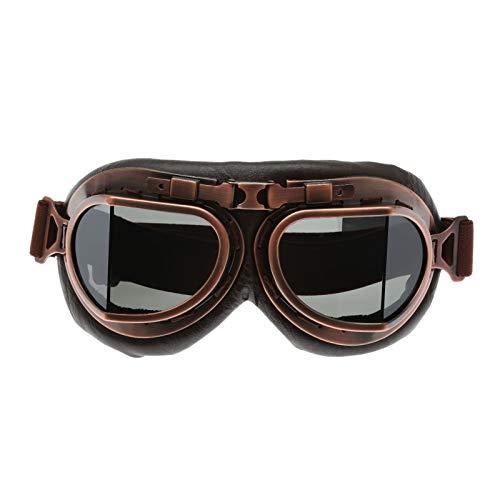 Dreld Vintage Brille Pilotenbrille Motorrad Cruiser Scooter Goggle Sonnenbrille Eyewear Bike Racer Cruiser Touring Halbhelm Brille