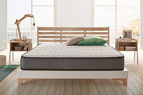 Naturalex | Viscoelastic | Matratze 105x200 cm | Komfort Plus Memory Foam | Entspannungs-Effekt | 7 Zonen Ergonomisch Extra Atmungsaktiv | Flexibilität Langlebigkeit Blue Latex | Ideale Stützung