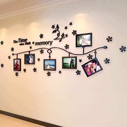Jjek creatieve foto muur met bloem wijnstok 3D acryl massief muur sticker fotolijst, kan worden geplaatst in de woonkamer slaapkamer gang muur (10st) C