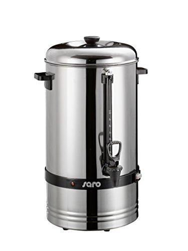Saro Gastro Kaffeemaschine mit Rundfilter Modell Saromica 6010 Industriekaffeemaschine (10 Liter, ca. 70 Tassen Kaffee, Brüh- & Warmhaltefunktion), silber
