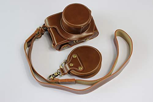D-Lux - Funda para cámara de 7 cámaras de piel sintética de Zakao con apertura inferior, funda protectora para cámara Leica D-Lux 7 con correa de hombro y mini bolsa (marrón)