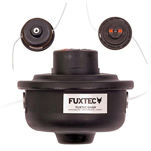 Fuxtec Nylon Doppelfadenkopf schwarz für FX-RT126 & RT226 mit Tippautomatik Fadenspule Benzin Motorsense M8 Gewinde, bis zu 10.000U/min. geeignet