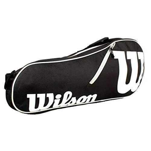 Wilson Schlägertasche Advantage II Triple Racket Bag Tasche, Black/White, 71 x 22.5 x 29 cm