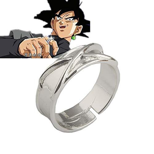 Yvonnezhang Dragon Ball Z Dark Goku Time Ring Cosplay Prop Black Gogeta Modelo Toy Anillo Ajustable