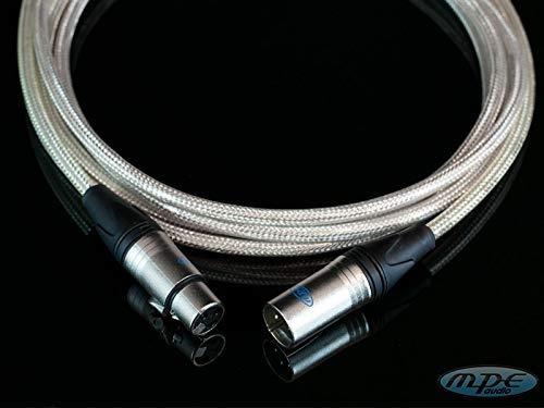 MPE - Cavo Super professionale Bilanciato Made in Italy per microfono e Casse Attive con due XLR Maschio Femmina MOD S.FOUR (10 MT)
