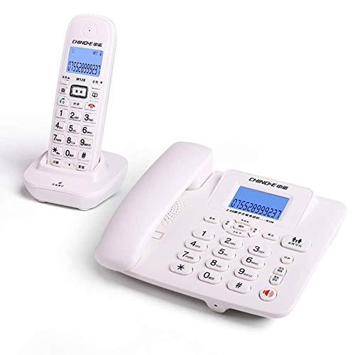 XYFJD con Cable e inalámbricos Molestias Bloqueo de Llamadas de teléfono Combo Kit de Teléfono for el hogar Cocina Hotel Oficina Push-botón del teléfono (Color : White, Size : Two Sets)