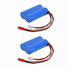 Battery Size:66 x 37 x 18mm ,Battery Weight:95 gram Volt: 7.4v,Capicaty :1500Mah 15C discharge with JST Plug Not Fits Wltoys 12428 RC Car For HUANQI 957 948 848 Double Horse 9101 9053 MJX F45 T23 T55(old version) etc