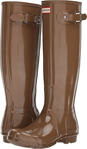 HUNTER Original Tall Gloss Rain Boots Mushroom 8