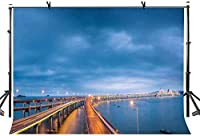 HD 10x7ftナイトブリッジの背景ナイトクロスブリッジ写真の背景写真写真の背景小道具スタジオ屋内装飾LYXC196
