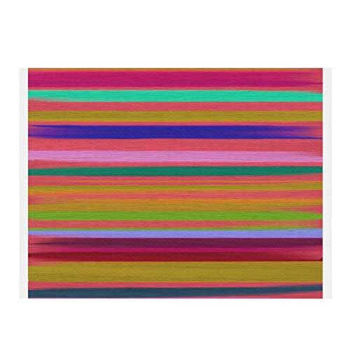 Alfombrilla de secado de microfibra para cocina, diseño de rayas arcoíris abstracto, colorido moderno, súper absorbente, secado rápido, almohadilla de secado para platos de cocina, 15,7 x 11,20,3 cm