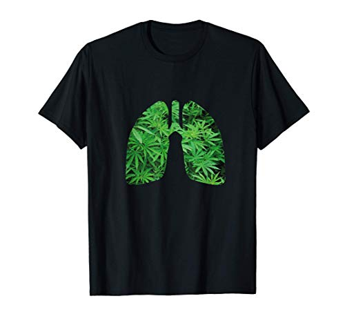 Pulmón de hierba I Fumador de hierba I 420 I Marihuana Camiseta