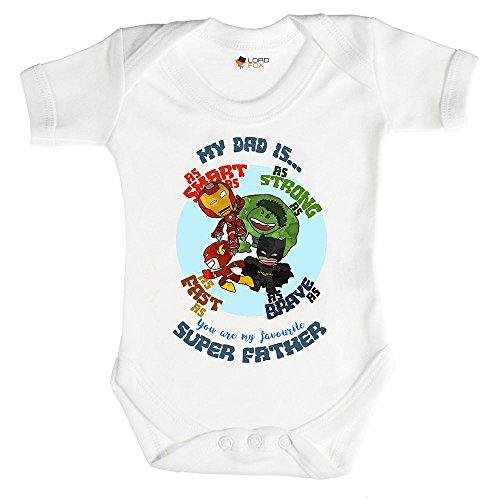 0-3 meses Babygrow My Dad is a Superhero Gift Marvel Daddy Padre Babygrow Baby Grow Todos los...
