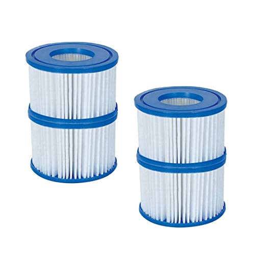 Bestway Spa Filter Pump Replacement Cartridge Type VI for SaluSpa (4 Pack)