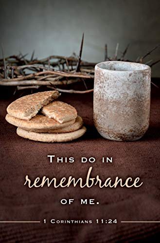 Communion Bulletin -'This Do In Remembrance of Me' KJV Scripture - (Package of 100)