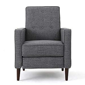 Christopher Knight Home Mervynn Mid-Century Modern Fabric Recliners, 2-Pcs Set, Grey
