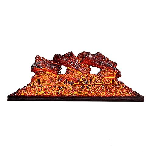 estufas electricas Registros de chimenea eléctrica Chimenea Decoración de la chimenea Hogar LED Simulación Flame Bare Carbon Bed TV Background Wall Chimenea Core, L 27.6