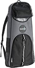 Phantom Aquatics Snorkeling Backpack Diving Gear Bag with Shoulder Strap - Fits Fins, Snorkel, Mask and More - Ideal Travel Bag for Scuba Diving, Snorkeling Gear Equipment and Water Sports - Grey