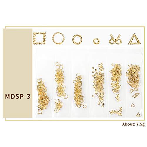 Rouge coloré 6 grilles nail art lune étoile en métal rivets clous de décoration accessoires