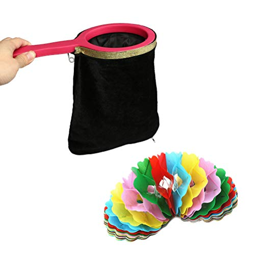 SunnyClover Magic Change Bag Magic Trick with Twisting Handle Easy Magic Tricks Make Things Appear Disappear Blue 1 PCS