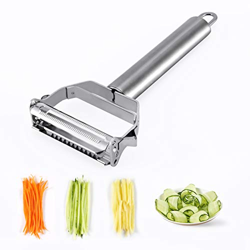 Tynctway Peeler Stainless Steel Cutter Slicer for Carrot Potato Melon Gadget Vegetable Fruit Steel Peeler Double Sided Blade Multifunctional Vegetable Cutter and Fruit Slicer Dual Blade for Kitchen