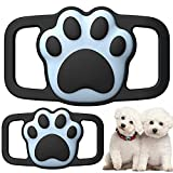 Lopnord Airtag Dog Collar Holder Compatible with Apple Air Tag GPS, 2 Pack Airtags Dog Tag Collar Waterproof Silicone Case, Airtag Protective Cover for Pet Dog Cat Collar Backpack