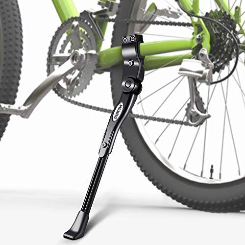 MOJINO Fahrradständer für Raddurchmesser 24-28 Zoll, Höhenverstellbarer Fahrrad Seitenständer für Mountainbike Rennrad Kinderfahrrad