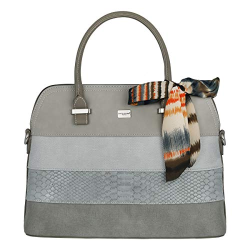 classement un comparer David Jones – Sac pour femme Bugatti à rayures multicolores – Grand sac en simili cuir…