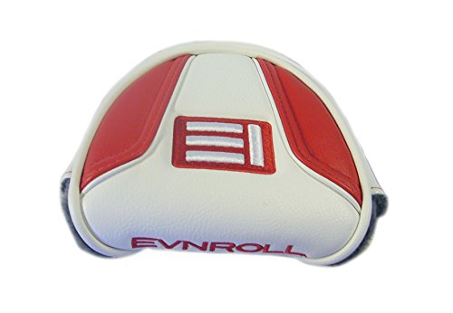 Evnroll New Red/White Magnetic Large Mallet Putter Headcover