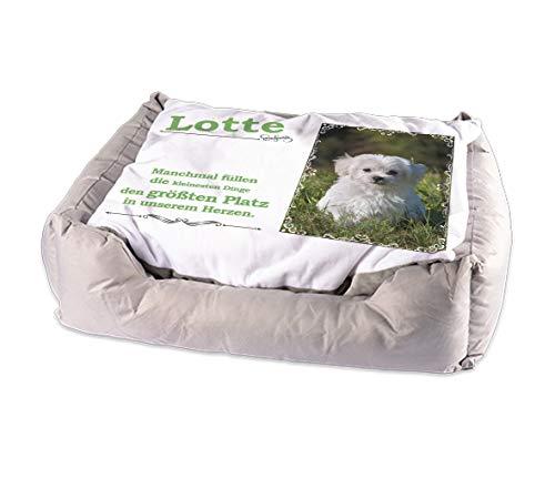Generisch Tierbett für ihre Katze oder Hund mit persönlichem Bild und/oder Name Katzenbett Hundebett (Motiv 5 Lotte)