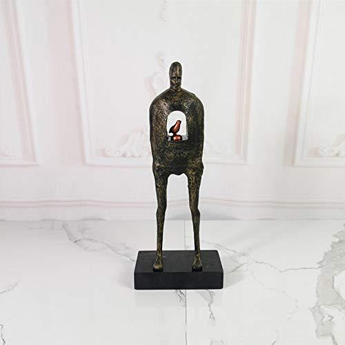 KK Zachary Adornos para personas, decoración del hogar, productos de metal, modelo de habitación, club, decoración de hotel, 15 x 10 x 37 cm (color: C)