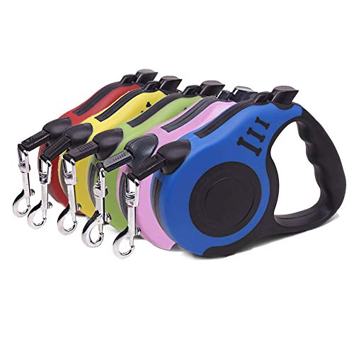 Retractable Dog Leash, Pet Walking Leash With Anti-slip Handle, Strong Nylon Tape, Tangle-free,One-handed One Button Lock & Release, Suitable For...