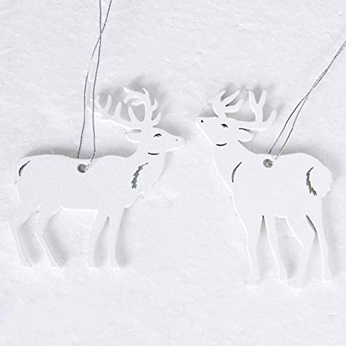 Landingstar Stevige witte houten hanger DIY kerstboom ornamenten hout ambachten kerstboom opknoping decoratie voor thuis partij benodigdheden Claus
