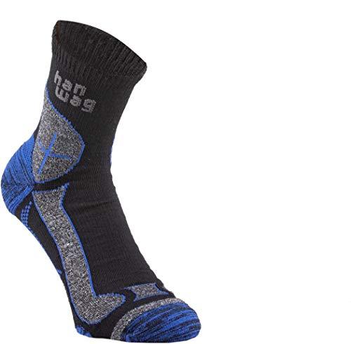 Hanwag Hike Merino Socken Black/royal Blue Schuhgröße EU 45-47 2021