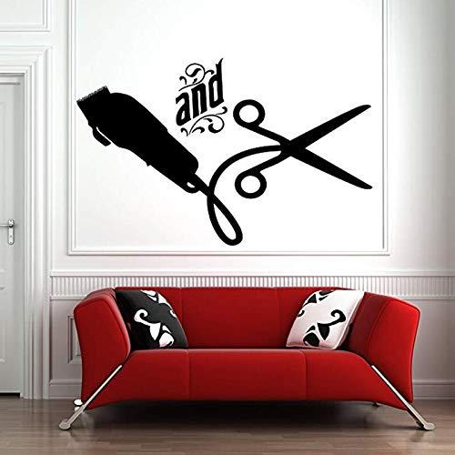 yaonuli Muursticker raamsticker kapper haar gereedschap schaar kapper schoonheidssalon kapper logo decoratie