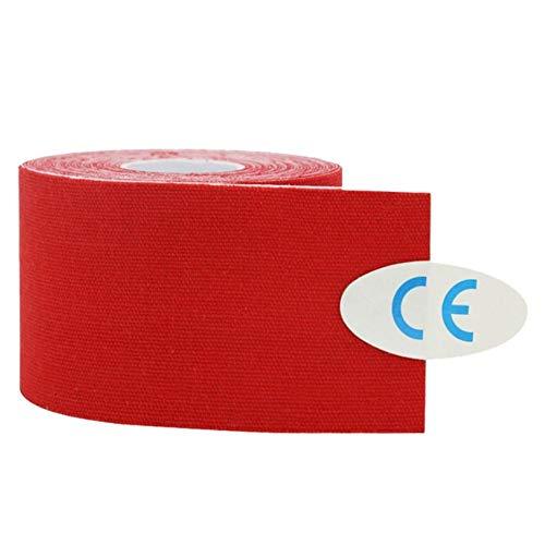 Tarente Sport Tape, 5cm 5m Baumwolle Strain Injury Muskel Taping Strapping Bandage Elastic Adhesive Sport Tape-Rot