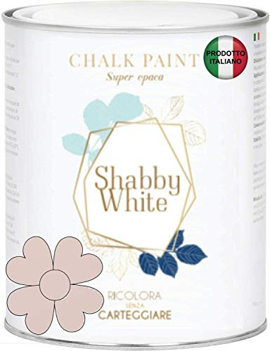 Shabby Chic White Chalk Paint 2,5 litros Pintura Shabby Chic Vintage Muebles Pared Otro Extra Mate 40 Colores (CIPRIA 1010-Y80R)