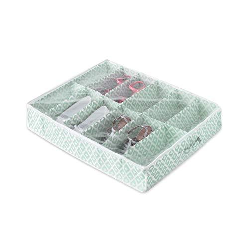 Compactor Bolsa de almacenamiento de zapatos, Gama Daman, Color verde agua, Tamaño 76 x 60 x 15 cm, Capacidad para 12 pares, Ventana transparente, RAN7447