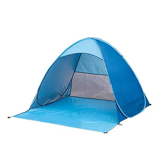 sevenjuly Pop Up Beach Carpa Instantánea Plegable Carpa Sol para Protegerse del Sol UV Familia Pesca Que Acampa De La Comida Campestre Banco Azul L