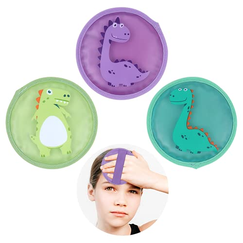 """Hilph® Kids Ice Packs for Boo Boos, Reusable Small Ice Packs with Elastic Strap for Kid's Injuries, Pain Relief, Wisdom Teeth-4.7"""" X 4.7"""""""