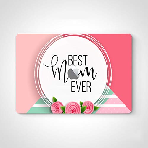 """Wrapping Stickers Best Mom Ever Pink Rose Skin Vinyl Sticker Laptop for MacBook Air 13"""" Pro 13""""/15""""/16"""" 2008-2020 Version Laptop Keyboard Decal Sticker"""
